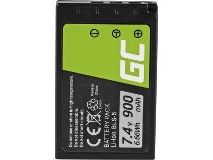 Batéria Green Cell ® BLS-5 / BLS-50 do Olympus OM-D E-M10, PEN E-PL2, E-PL5, E-PL6, E-PL7, E-PM2, Stylus 1 7.4V 900mAh