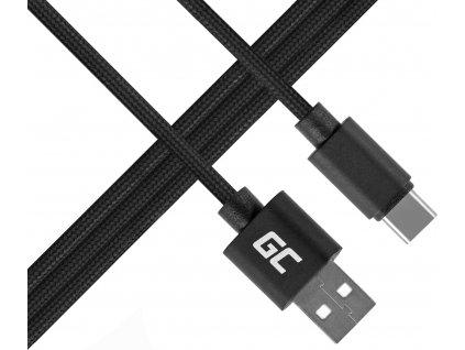 Kábel Green Cell USB-C Nylon 1m