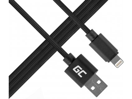Kábel Green Cell Lightning-USB do Apple iPhone Nylon 1m