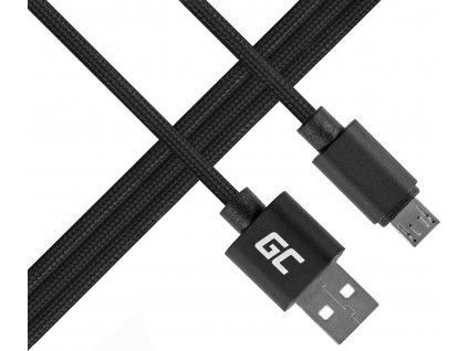 Kábel Green Cell micro USB Nylon 1m