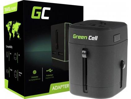 Univerzálny adaptér do zásuviek celého sveta Green Cell ® s dvoma portami USB