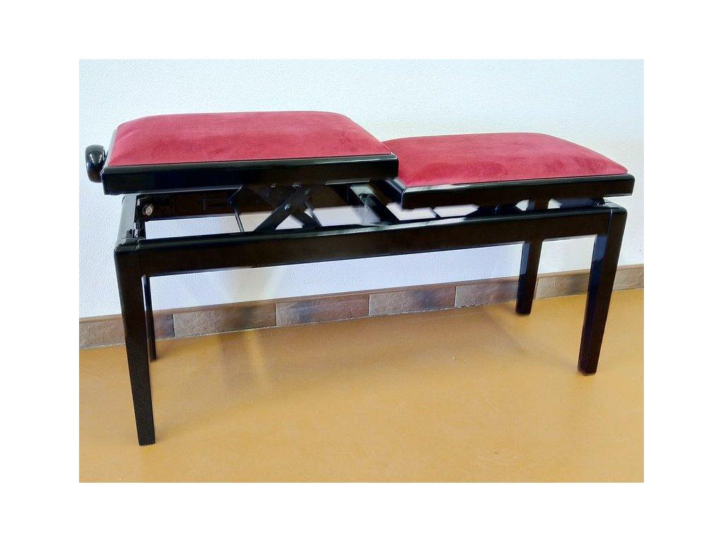 Klavírová židle Hidrau BG4/TC5/Black Gloss