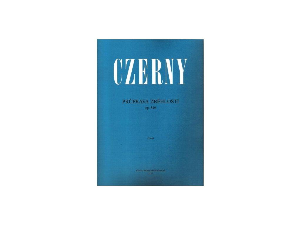 PRUPRAVA ZBĚHLOSTI OPUS849 - Carl Czerny