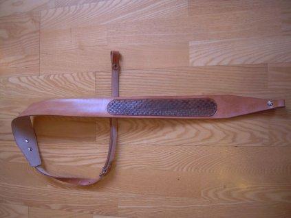 Popruh banjový ST/B/D/kostka hnědá krátká