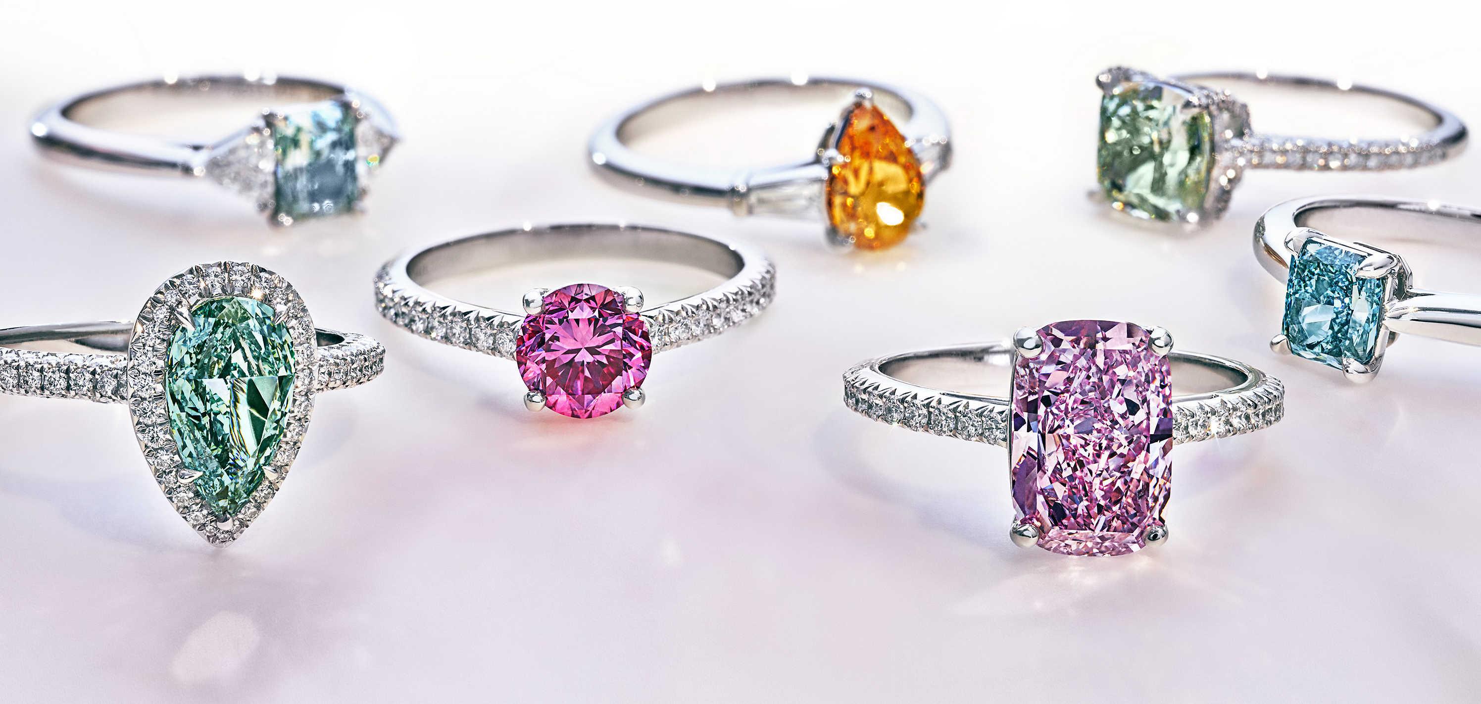 Diamanty barev duhy
