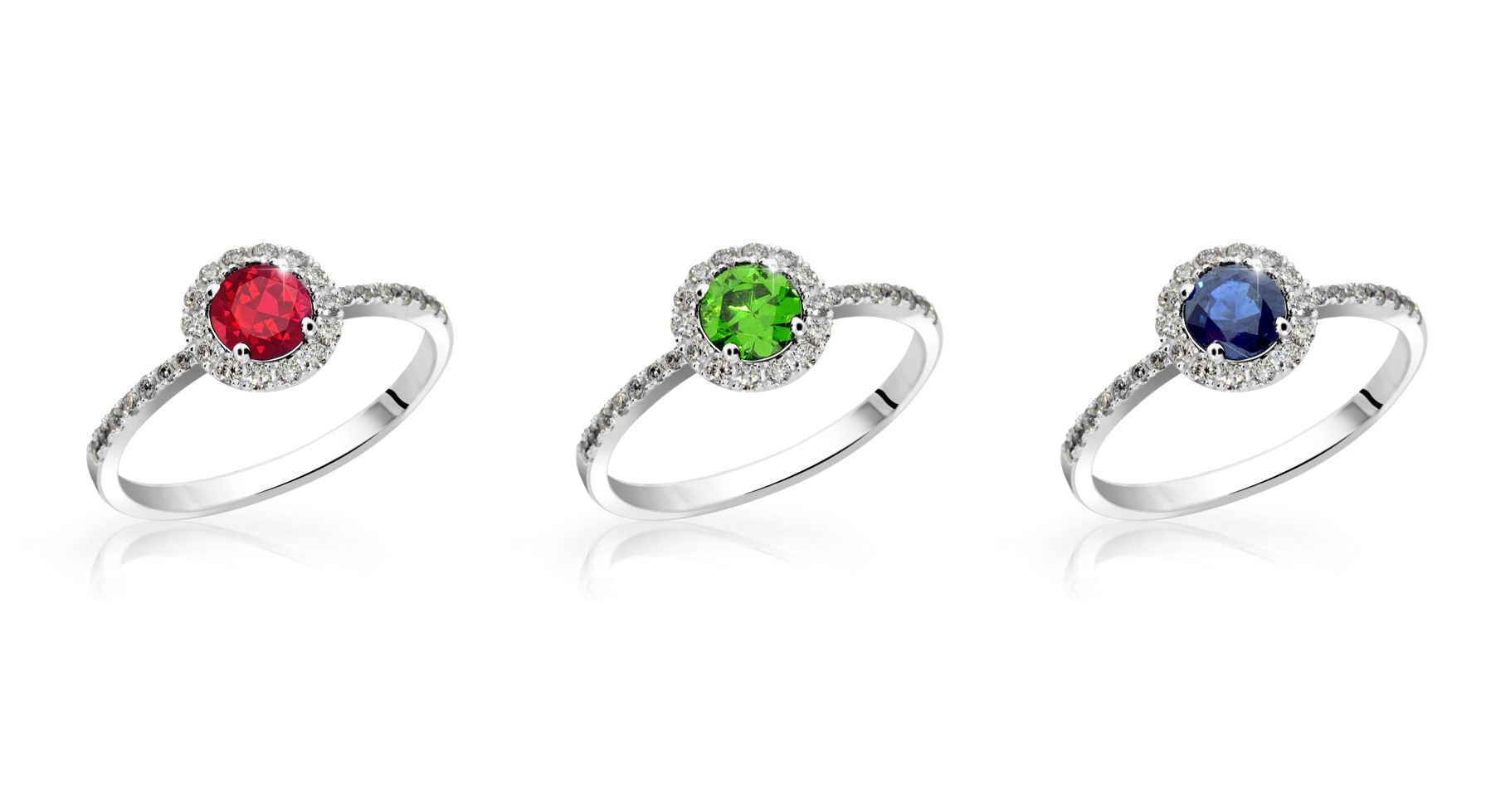 """""""Velká trojka drahokamů"""" - vyberte šperky s drahokamy, ve kterých každý zazáří!"""