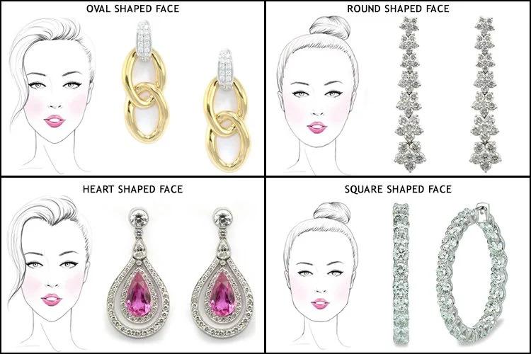 Vybíráme zlaté náušnice podle tvaru obličeje.