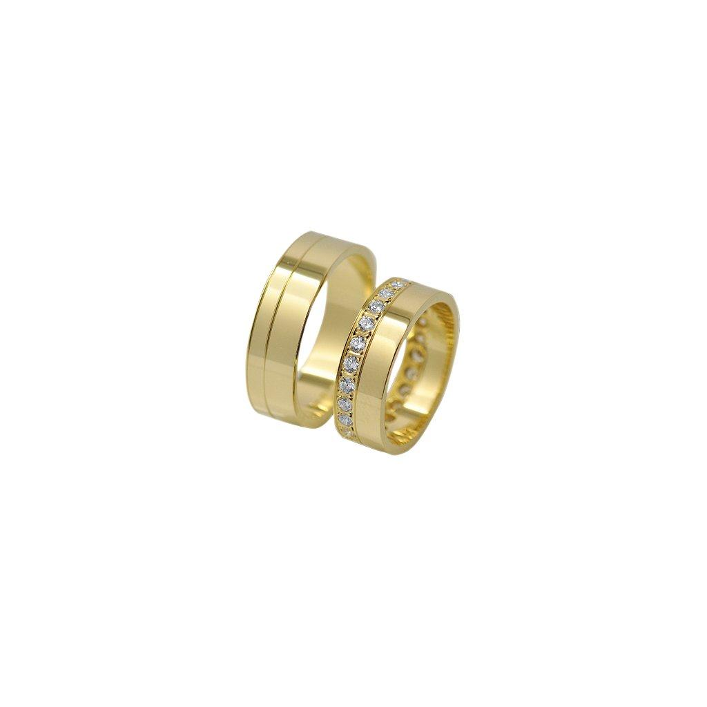 Snubní prsten – model 35b