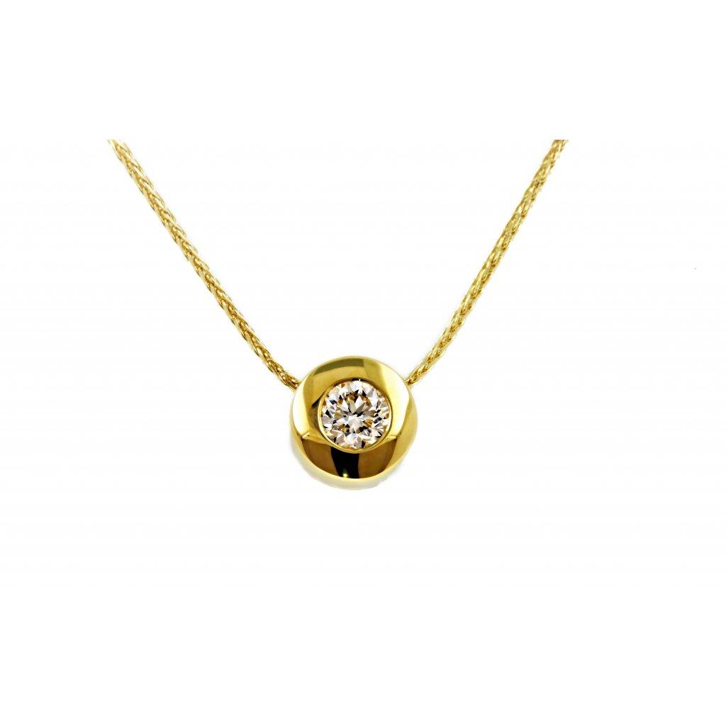 Briliantový náhrdelník Caroline Yellow