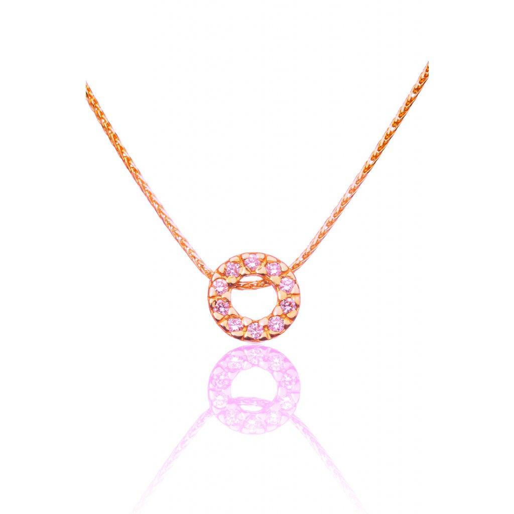 Briliantový náhrdelník Susan Rose Gold