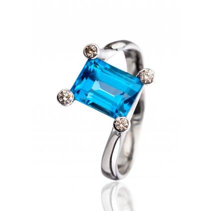 Prsten Blue Topaz