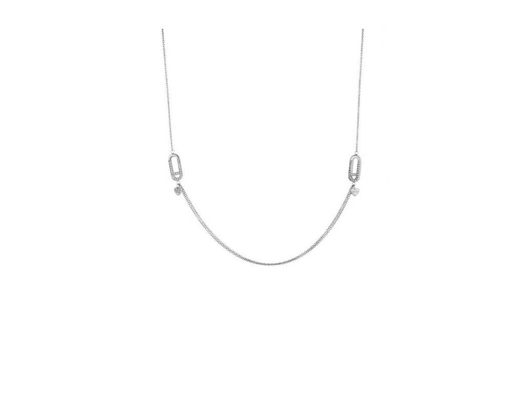 Dámský náhrdelník značky LIU JO LJ1399 zdobený krystaly