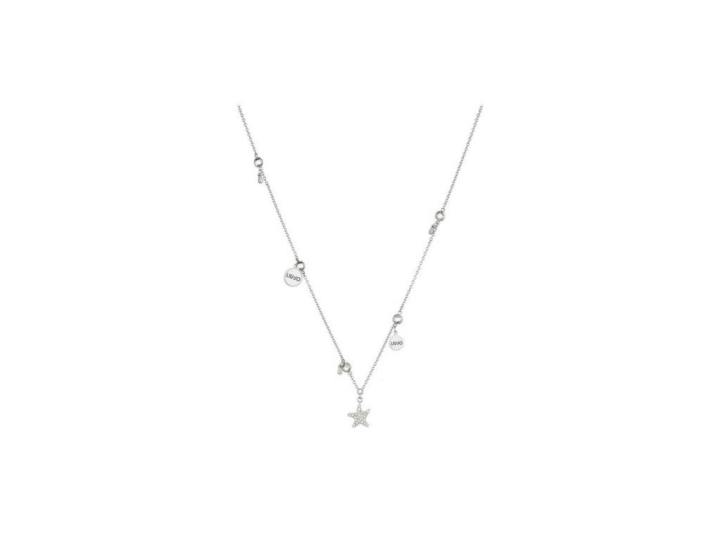 Dámský náhrdelník LIU JO z chirurgické oceli zdobený přívěsky
