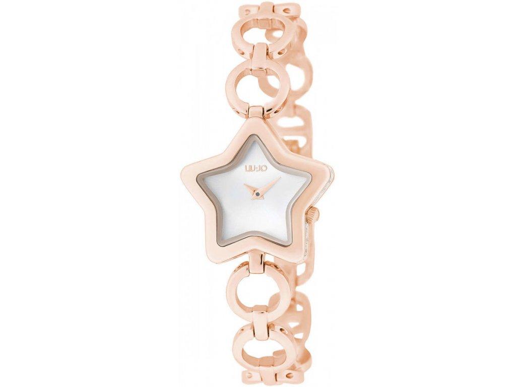 Dámské hodinky LIU JO TLJ1711 s růžovým ocelovým řemínkem a motivem hvězdy