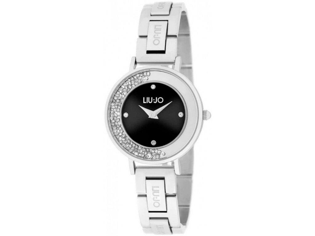 Dámské hodinky LIU JO TLJ1684 Dancing s ocelovým řemínkem a černým ciferníkem