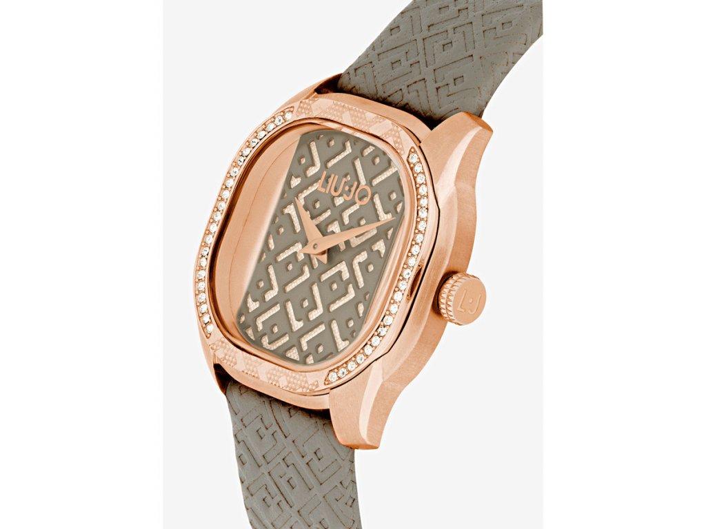 Dámské hodinky LIU JO TLJ1400 s koženým řemínkem