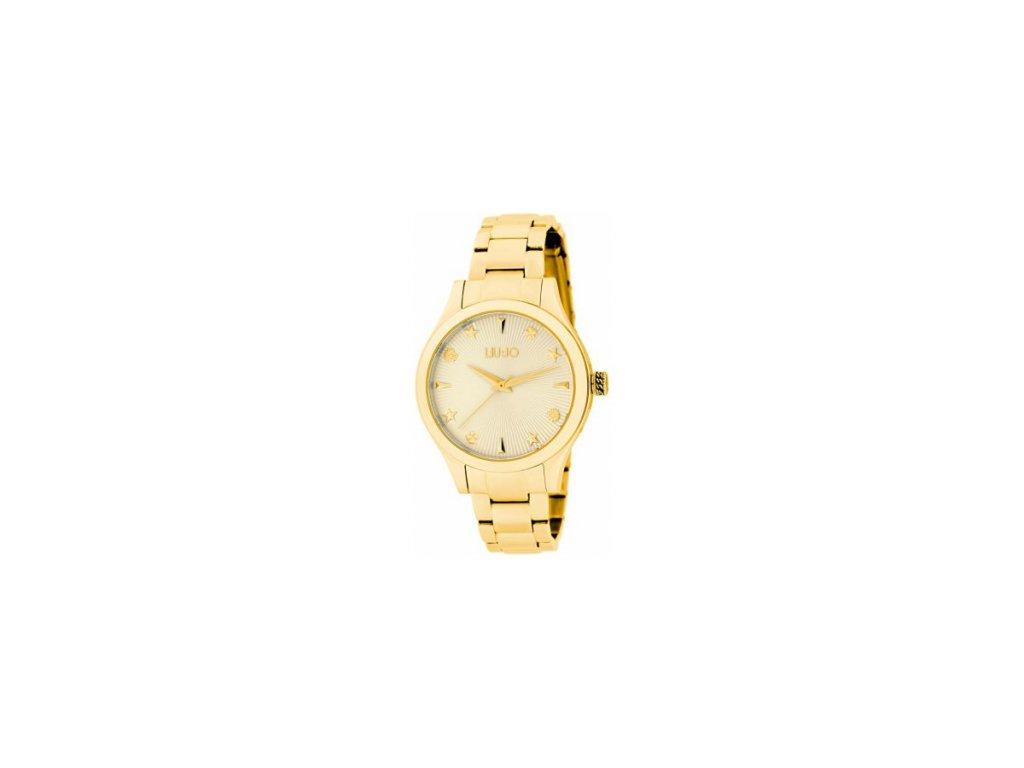 Pozlacené dámské hodinky LIU JO TLJ1438 s ocelovým řemínkem