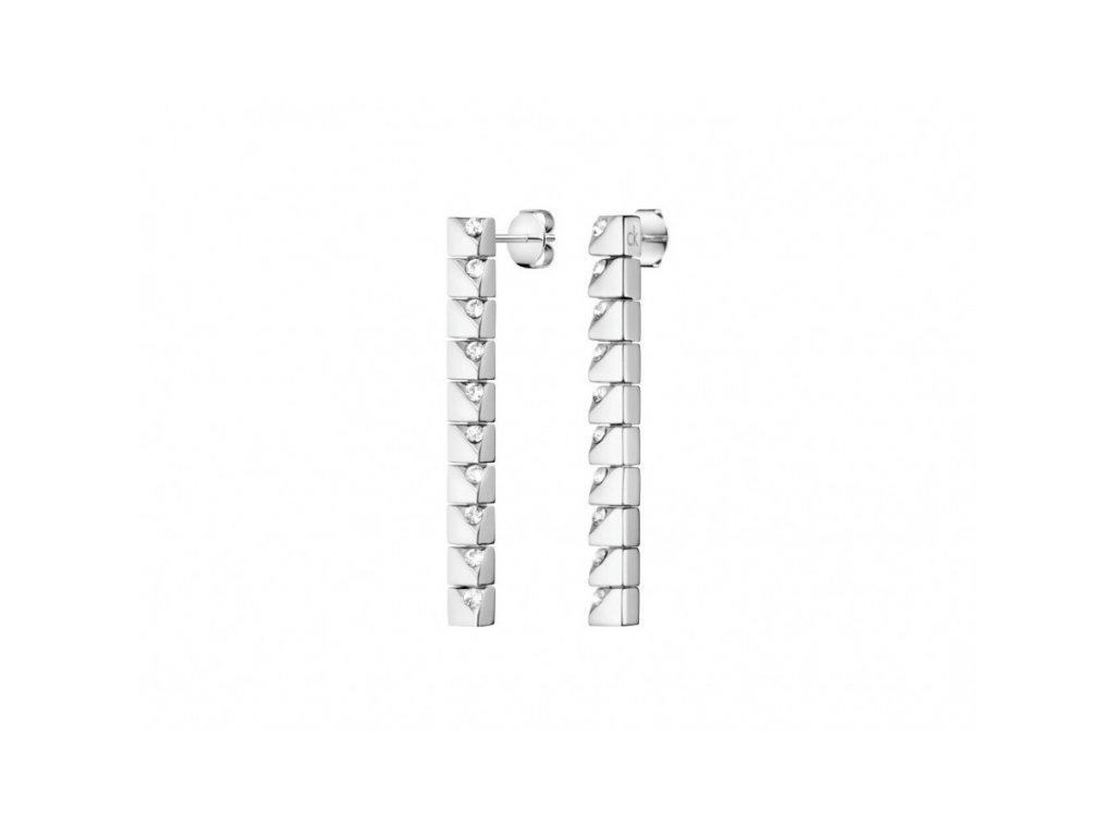 Dámské visací náušnice Calvin Klein KJ9MME040500 z chirurgické oceli zdobené krystaly