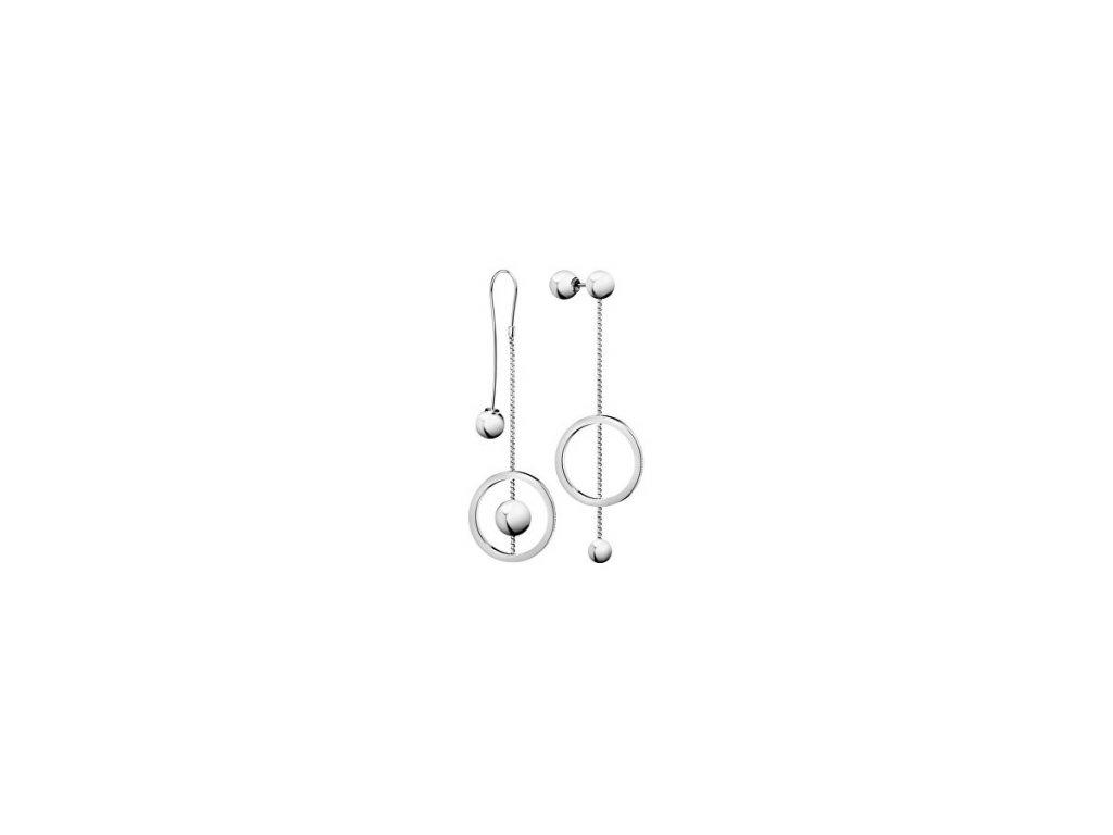 Dámské visací asymetrické náušnice Calvin Klein KJ9VME000100 z chirurgické oceli