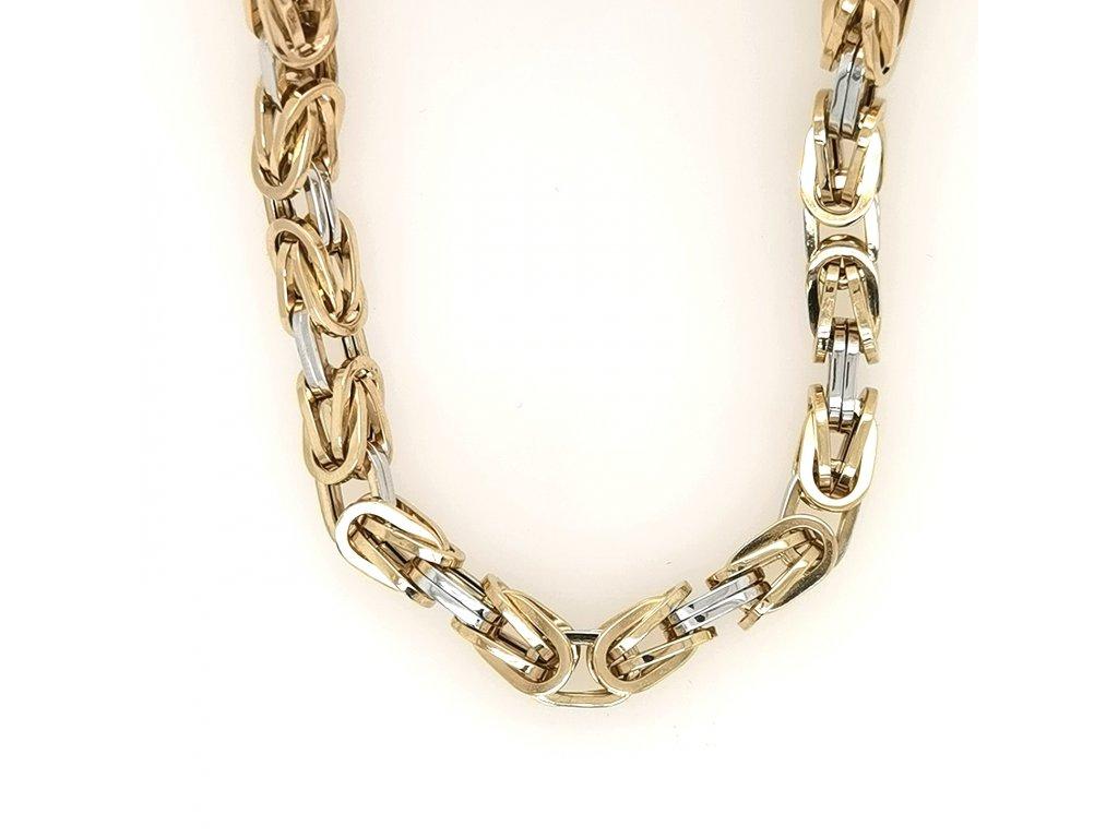 Pánský náhrdelník v kombinaci žlutého a bílého zlata 585/1000