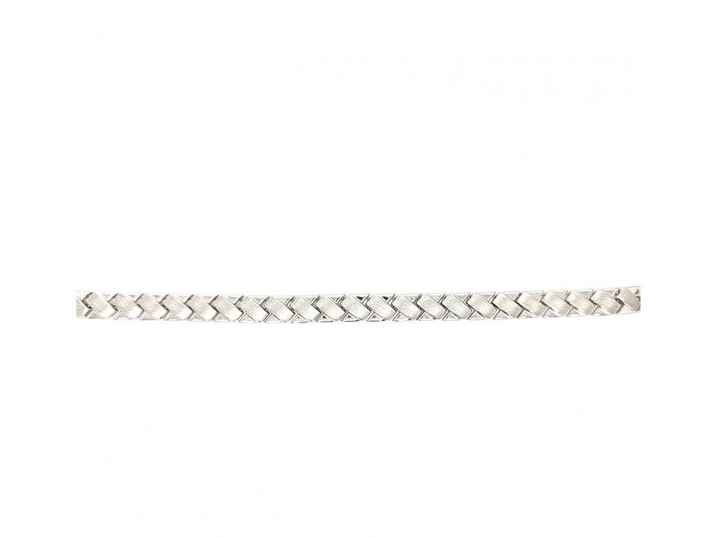 Unisex náramek z bílého zlata 585/1000