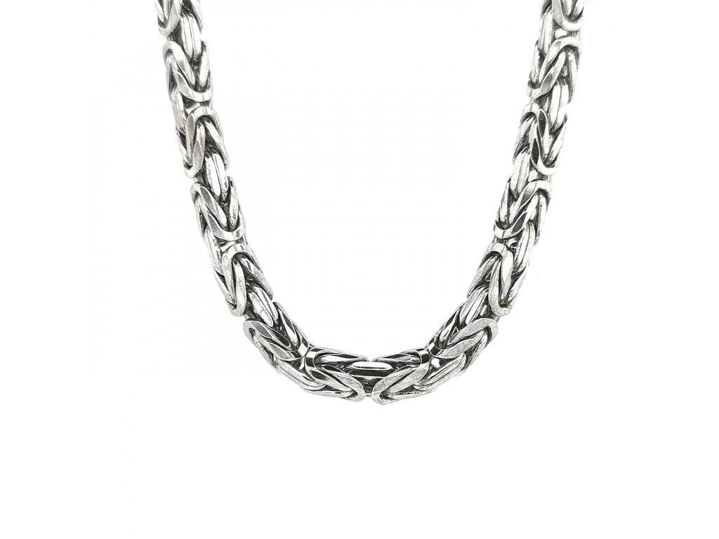 Pánský stříbrný náhrdelník 925/1000 královský vzor