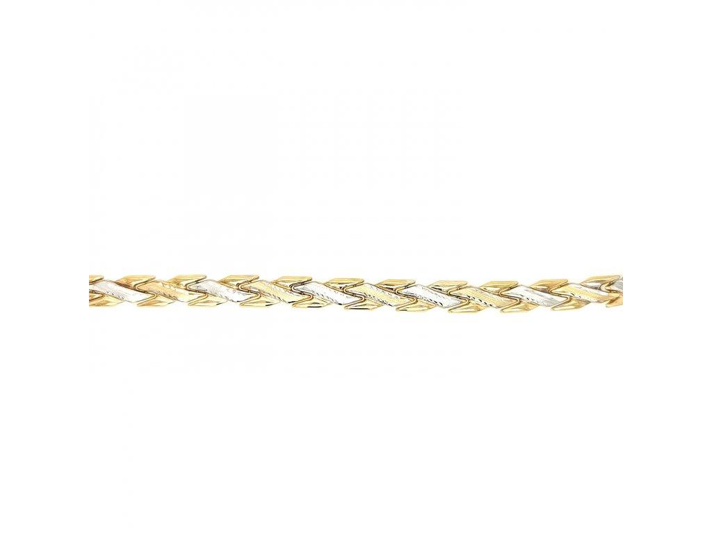 Dámský náramek ze žlutého zlata 585/1000 s bílým zlatem