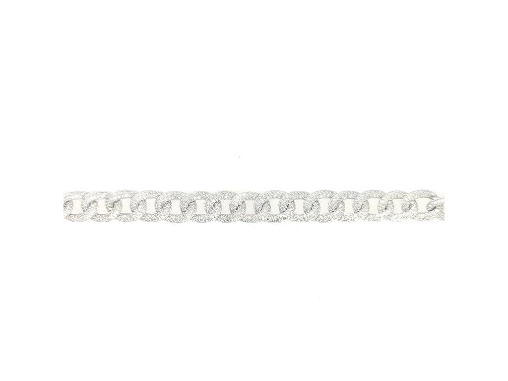 Stříbrný náramek 925/1000 zdobený zirkony