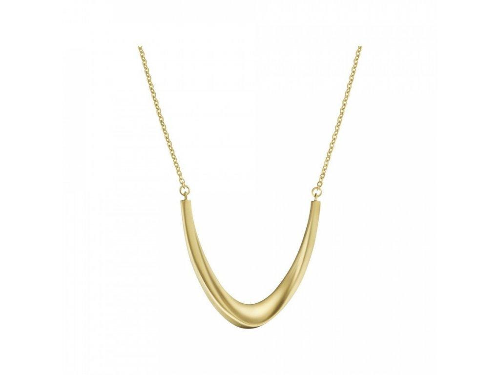 Pozlacený matný náhrdelník Calvin Klein KJ3YJN110100 z chirurgické oceli