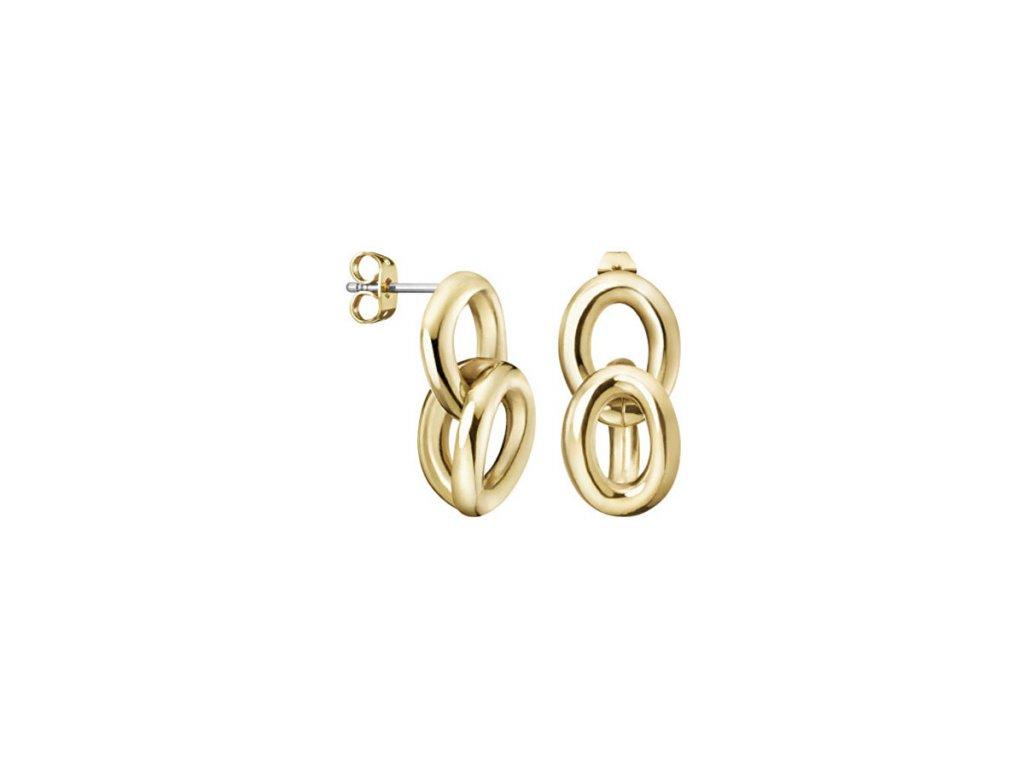 Pozlacené Náušnice Calvin Klein KJALJE100200 z chirurgické oceli