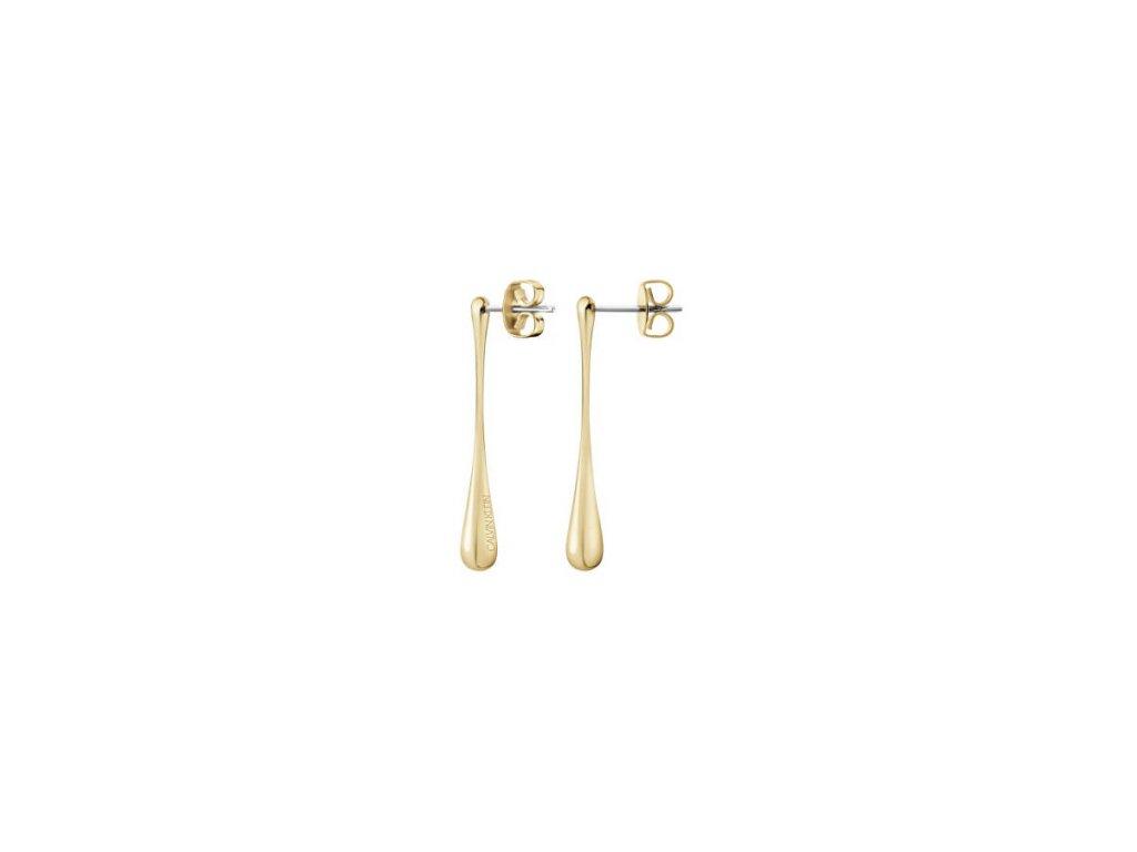 Pozlacené náušnice Calvin Klein KJDMJE100100 z chirurgické oceli