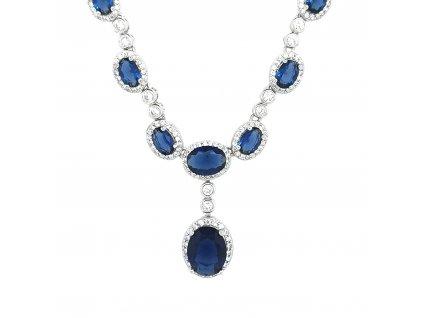 Dámský stříbrný náhrdelník 925/1000 se zirkony