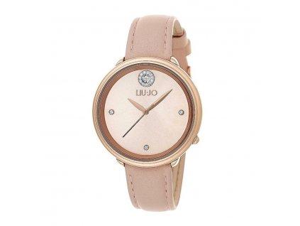 Dámské hodinky LIU JO TLJ1156 s béžovým koženým řemínkem
