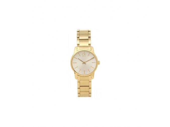 Pozlacené dámské hodinky Calvin Klein K2G23546 s ocelovým řemínkem