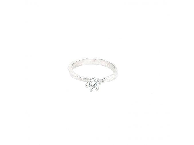 Dámský prsten z bílého zlata 585/1000 se zirkonem