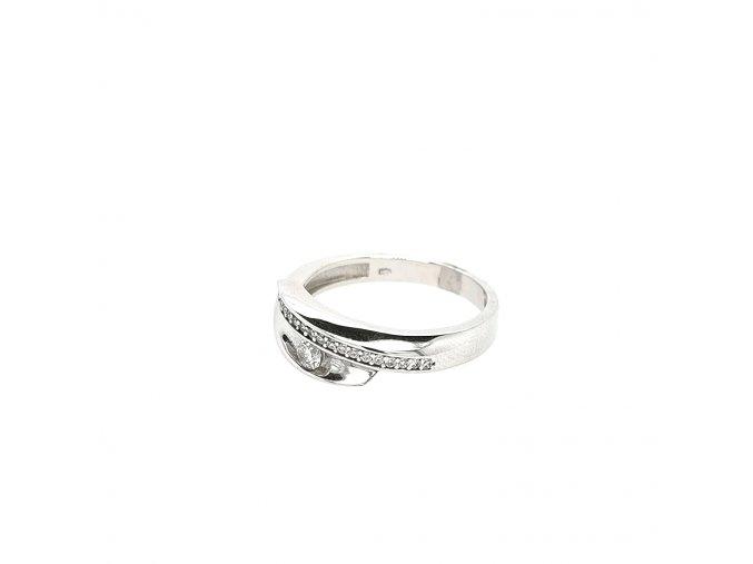 Dámský stříbrný prsten 925/1000 se zirkony