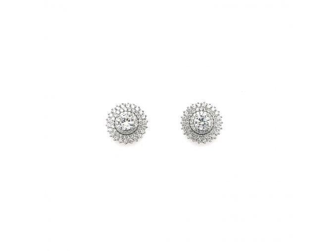 Dámské stříbrné náušnice 925/1000 se zirkony