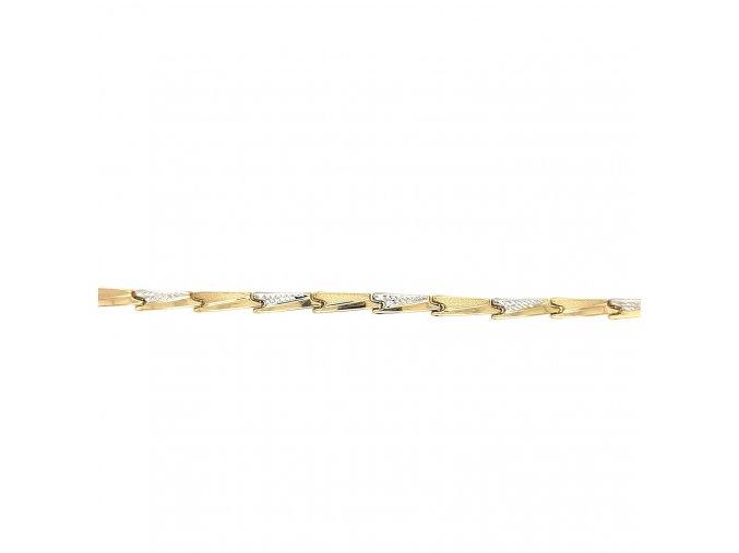 Dámský kombinovaný zlatý náramek 585/1000