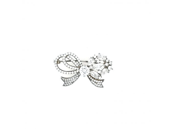 Stříbrná brož 925/1000 se zirkony