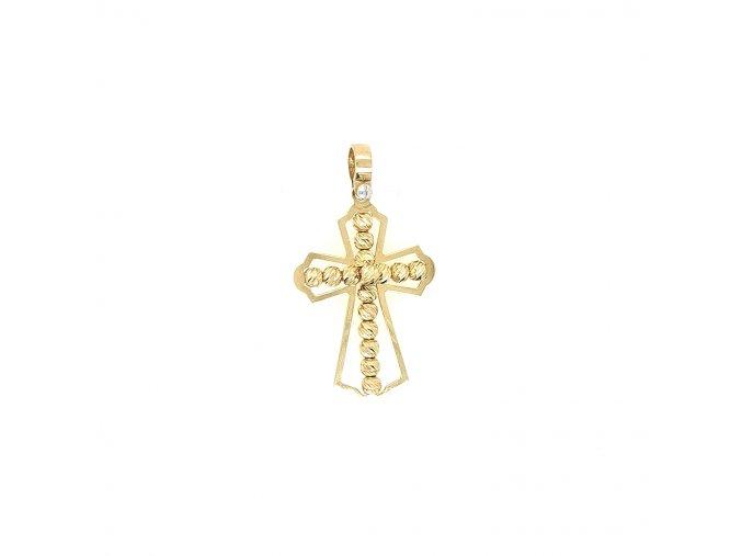 Dámský přívěšek ze žlutého zlata 585/1000 se motivem kříže