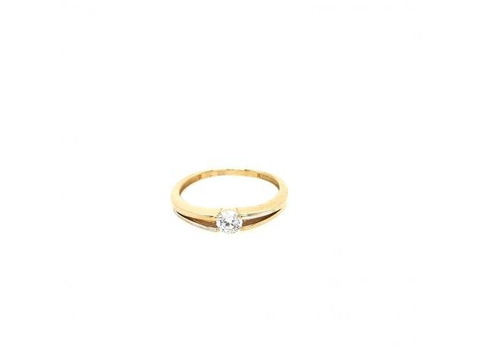 Dámský prsten v kombinaci žluté a bílé zlato 585/1000