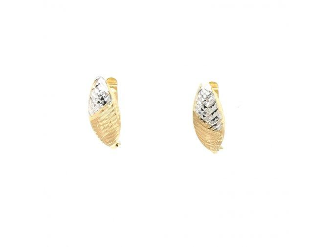 Dámské náušnice v kombinaci žluté a bílé zlato 585/1000