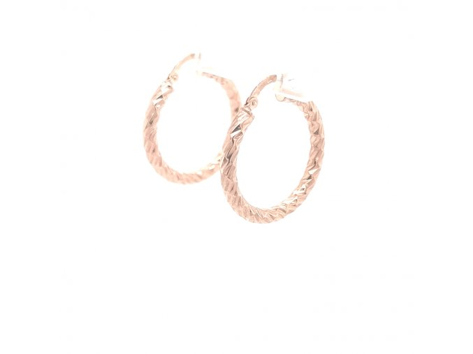 Dámské náušnice kruhy z růžového zlata 585/1000