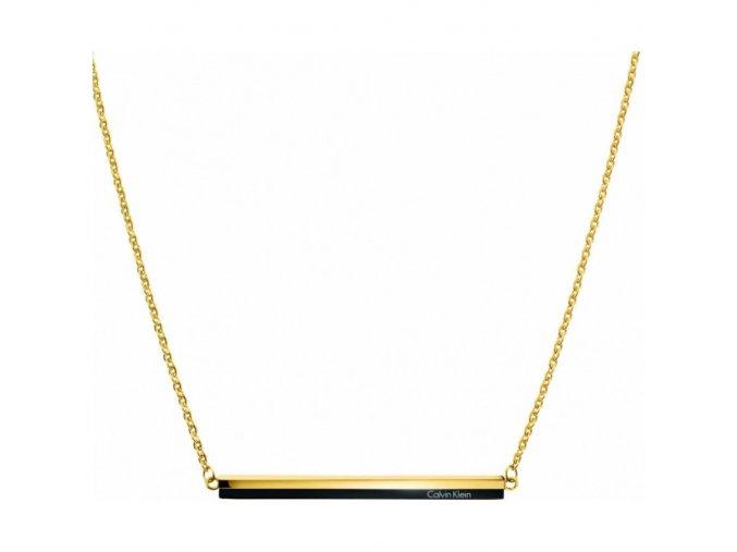Dámský náhrdelník Calvin Klein KJ5VBN200100 z chirurgické oceli v kombinaci černé a zlaté
