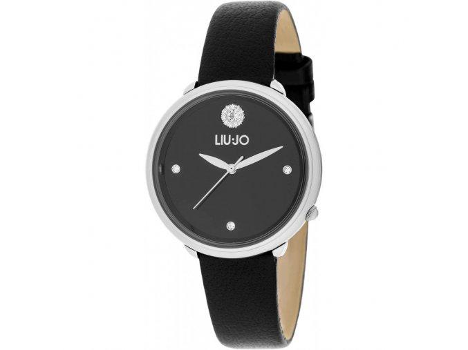 Dámské hodinky LIU JO TLJ1297 s černým koženým řemínkem