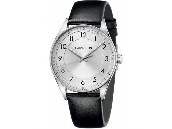 Pánské hodinky Calvin Klein KBH211C6s koženým řemínkem a číslicemi