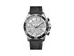 Pánské hodinky Grovana 7037.9532 s černým koženým řemínkem
