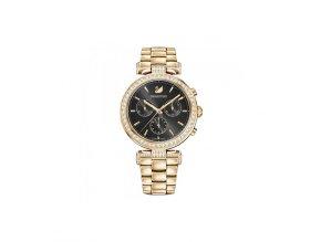 Dámské hodinky Swarovski 5295366 s rosegold ocelovým řemínkem