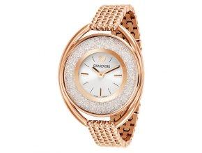 Dámské hodinky Swarovski 5200341 s rosegold řemínkem a krystaly