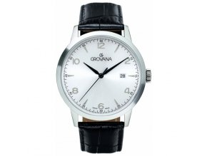 Pánské hodinky Grovana 2100.1532 s koženým řemínkem